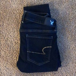 American Eagle dark skinny jeggings